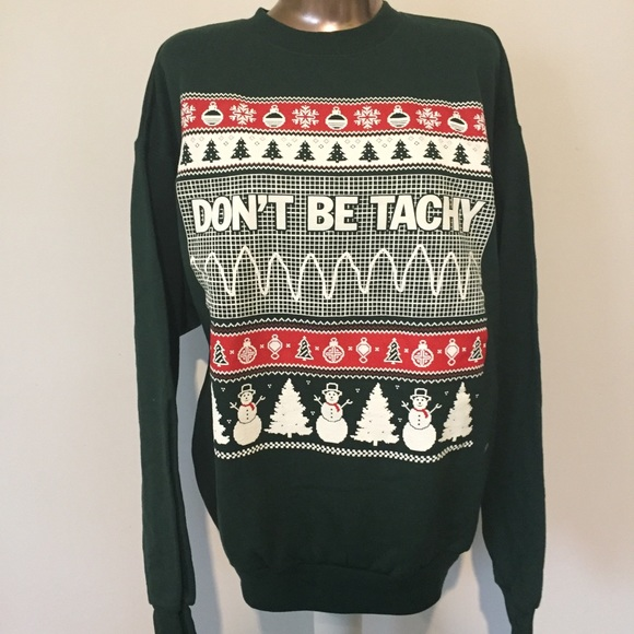 Nurse Christmas Sweater.Don T Be Tacky Ugly Christmas Sweater Crew Nurse